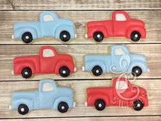 Vintage Pickup Truck Cookie Cutter and Fondant Cutter - cookies from LC Sweets