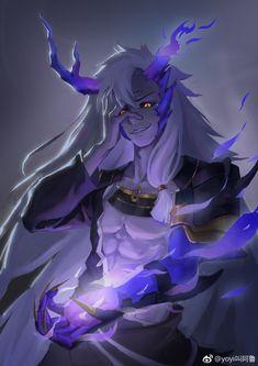 微博 Evil Anime, Anime Garçons, Hot Anime Boy, Anime Art, Demon Manga, Demon Art, Monster Characters, Fantasy Characters, Anime Characters