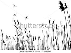 tall grass silhouette - Google Search Grass Silhouette, Tall Grasses, Pond, Stencils, Design Ideas, Interior Design, Signs, Google Search, Nest Design