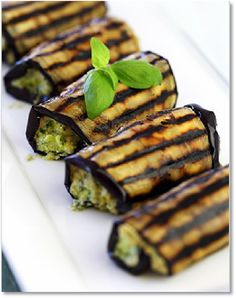 New Low FODMAP Recipes - Grilled eggplant with salsa verde http://www.ibssano.com/low_fodmap_recipe_grilled_eggplant_salsa_verde.html