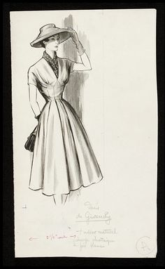 Fashion drawing | Fromenti, Marcel | V Search the Collections