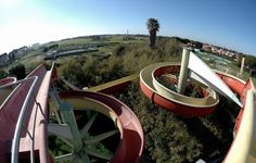 Bulli & Pupe, Anzio, Italy  This 15,000 meter-square water park in Italy by the name of Bulli & Pupe (meaning Guys & Dolls) used to boast a semi-Olympic-size swimming pool, five smaller pools and various water slides.