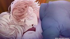 【Diabolik Lovers - Lost Eden】︎︎Shu and Yui Diabolik Lovers Ayato, Ayato Sakamaki, Slice Of Life, Me Me Me Anime, Anime Love, Romance, Blonde Anime Boy, Lovers Pics, Vampire Love