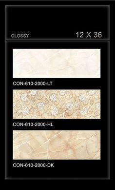 Create harmonious interiors with large format #marble effect #tiles.  CON_610_2000 - Millennium Tiles 300x900mm (12x36) Digital Ceramic OCT Glossy Large Format #WallTiles  - CON_610_2000_LT - CON_610_2000_HL - CON_610_2000_DK  - Easy care: HD Digital tiles resists dirt accumulation and can be cleared up with a damp mop, sponge or common house hold cleaners. - #Vitrified tiles is made by hydraulic pressing a mixture of clay, quartz, feldspar and silica, which make vitreous #surface.
