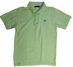 Fred Perry mens t-shirt shirt green logo size L 100% cotton polo classic casual #FredPerry #BasicTee