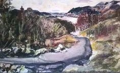 Ashness Bridge, Keswick, Lake District - JR16 - watercolour, wax and pastel
