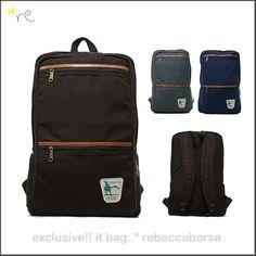 Rebeccaborsa Campus Backpack Schoolbag Bookbag Canvas Rucksack Laptop Satchel   eBay