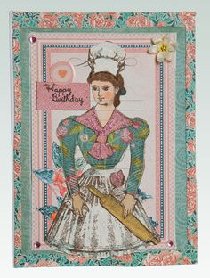 At the Patisserie Birthday Card, Vintage, Paris, Character Construction Stamps, Graphic 45 Paper, Tag, Bakery