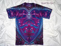 tie dye shirt, small ice dye, tiedye tshirt by gratefuldan dyes, trippy pendant design, v back ice dye, inkblot ice dye, funky ice dye by GratefulDan on Etsy