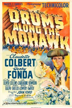 """Drums Along the Mohawk (20th Century Fox, 1939). One Sheet (27"""" 