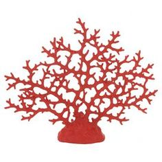 "Bring seaside style home with this artful coral-inspired decor, an eye-catching addition to your living room curio cabinet or hall console.  Product: DecorConstruction Material: PolystoneColor: RedDimensions: 14"" H x 17"" W x 3"" D"
