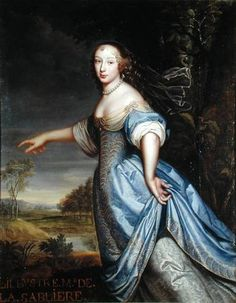 Pierre Mignard - Marguerite de la Sablière (c.1640-93) a French salonist, friend and patron of La Fontaine and the wife of Antoine Rambouillet, sieur de la Sablière (1624–1679). She received an excellent education in Latin, physics, mathematics & anatomy from the best scholars of her time. Her house became a meeting-place for poets, scientists and men of letters, no less than for brilliant members of the court of Louis XIV.