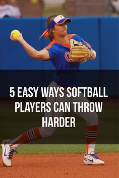 Easy Ways Softball Players Can Throw Harder Learn great tips to throw harder that will help any softball player!Learn great tips to throw harder that will help any softball player! Softball Workouts, Softball Cheers, Softball Drills, Slow Pitch Softball, Softball Gifts, Softball Bows, Girls Softball, Softball Players, Games