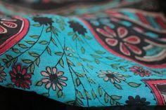 Foulard en soie #bleu