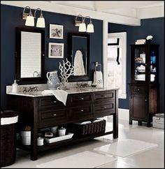 benjamin moore blue paint   benjamin moore newburyport blue   powder room
