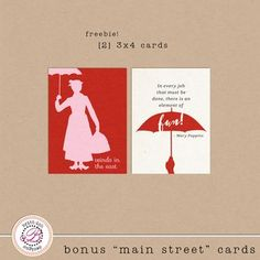 One Velvet Morning Mary Poppins Free Project Life Freebies