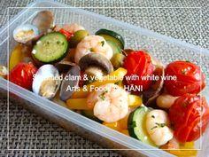 魚介とお野菜の簡単白ワイン蒸し