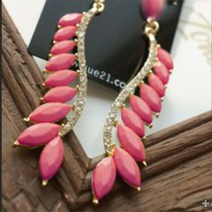Wholesale Pair of Chic Solid Color Diamante Long Earrings For Women (COLOR ASSORTED), Earrings - Rosewholesale.com
