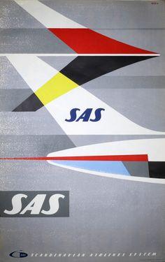 SAS Airline Caravelle to 22 Cities Original Vintage Travel Poster Travel Ads, Airline Travel, Sas Travel, Airline Tickets, Gig Poster, Sas Airlines, Sud Aviation, Vintage Travel Posters, Vintage Airline