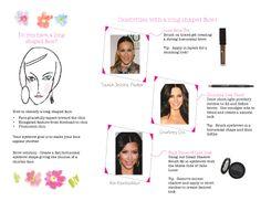 Brows 101 - Do you have a long shaped face? www.pinkpapayaparty.com/lakota