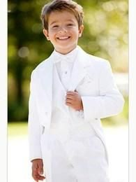Cheap suit velour, Buy Quality suit scarf directly from China suit wedding Suppliers: White Boy's Formal Wear Suits For Boy (Jacket+Pants+Tie+Vest)Notch Lapel Baby Kids Formal Suit 2015 Children Tuxedos Boys Tuxedo, White Tuxedo, Groom Tuxedo, Black White, Boys Wedding Suits, Wedding With Kids, Wedding Ideas, Prom Suit Jackets, Kids Formal Wear