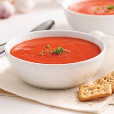 La crème de tomate fait des heureux depuis belle lurette! Soup Recipes, Healthy Recipes, Veg Soup, Soups And Stews, Chowder, Thai Red Curry, Food To Make, Food And Drink, Vegetables