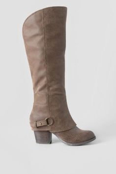Taupe Fergalicious, Lexy Knee High Heeled Boot | Boots and Booties | francesca's francesca's