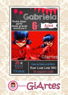 Convite virtual miraculous ladybug