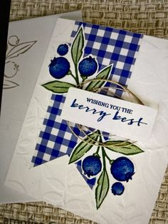Blessings, Blueberry, Stampin Up, Berries, Blessed, Strawberry, Fruit, Tableware, Sweet