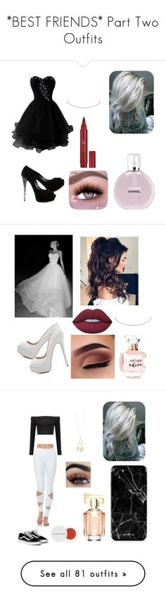 """""""*BEST FRIENDS* Part Two Outfits"""" by princessugar on Polyvore featuring Chanel, Forever 21, Casadei, Refuge, Lime Crime, Accessorize, Herbivore, HUGO, Boohoo and NLY Trend"""