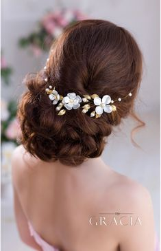 Picturesque Hair Comb for Wedding Celebrations in Gold Hue #topgraciawedding #haircomb #wedding #gold #silver