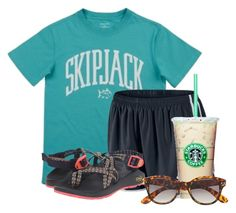 """""""Late lunch🍔"""" by flroasburn ❤ liked on Polyvore featuring NIKE, Chaco and H&M"""