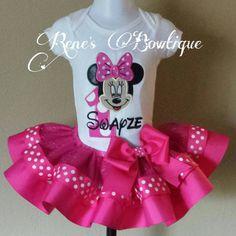 Minnie Mouse Ribbon Tutu Set от RenesBowtique на Etsy