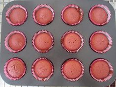 Gunns momsemat: Red velvet cupcakes
