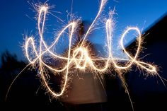 SLR settings for shooting sparklers.  Happy Fourth :)