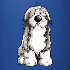 Niedlicher Bearded Collie | Modartis Tier Shirt Shop für Zweibeiner
