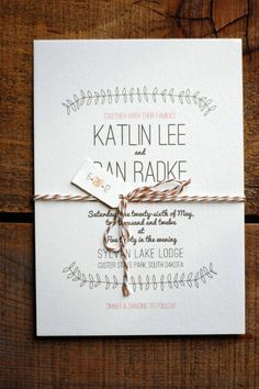 Idea of attaching little nametags to each invitation rather than having to print names on each invitation