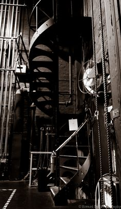 Staircase to the catwalk, stage left, Pabst Theater, Milwaukee, WI