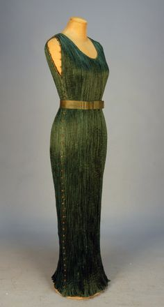 Fortuny Delphos Gown and Belt, c. 1920, Whitaker Auction