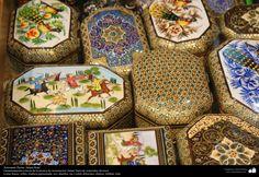 Artesanía Persa- Jatam Kari (Marquetería y Ornamentación de objetos) - 49 | Galería de Arte Islámico y Fotografía