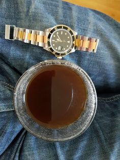 Morning coffee and Rolex  Rolex 16803 Coffee #watch #rolex16803 #coffee #watchandcoffee