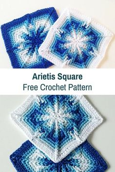 Arietis Square With Ombre Effect Free Crochet Pattern [Free Pattern] Pretty Magical Arietis Square With Ombre Effect Informations About Crochet coasters Pin You can easily. Point Granny Au Crochet, Crochet Squares Afghan, Crochet Blocks, Afghan Crochet Patterns, Blanket Crochet, Knitting Patterns, Crochet Cushions, Crochet Pillow, Knitting Ideas