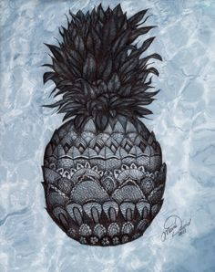 Beautiful stylized biro pineapple.