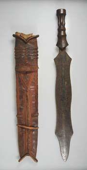 Short sword with sheath, Congo, Salampasu