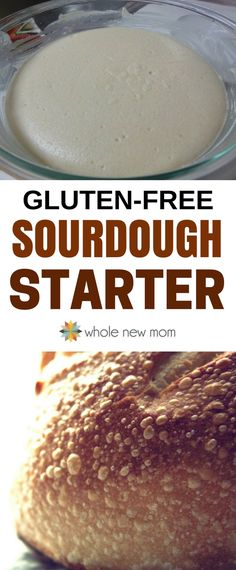 Love sourdough but you're gluten-free? This Gluten Free Sourdough Starter is so easy- you can have tasty sourdough bread ready right away. With this Gluten Free Sourdough Starter it's super simple so you can get started right away without any special ingredients, and you can use a whole variety of gluten-free flours. #glutenfree via @wholenewmom