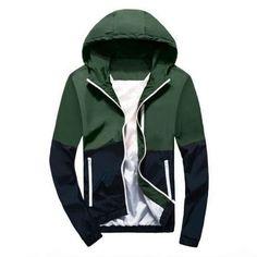 Fox World Men's Hooded Windbreaker Jacket