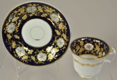 Antique Hand Painted Minton Morning Glory Porcelain Tea Cup and Saucer 1820<br/>Cups & Saucers - 63525