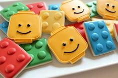 Lego Cookies - I know it's not technically cake but it goes with the Lego Cake I already pinned
