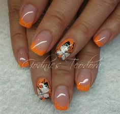 Orange glitter by Teodora77 - Nail Art Gallery nailartgallery.nailsmag.com by Nails Magazine www.nailsmag.com #nailart