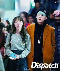 Dispatch menemukan Suga BTS dan Wendy Red Velvet di Bandara... Untuk benerin mesin pesawat. #wenga #wendy #suga #seungwan #bts #rv #bangvelvet